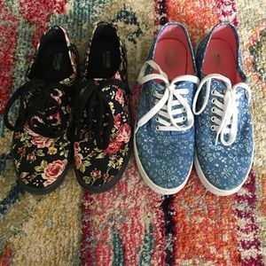 Mossimo Supply Co 7 Floral Lace Up Sneaker Shoes